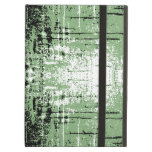 Grunge Style Green Abstract. iPad Case