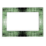 Grunge Style Green Abstract. Photo Frame Magnets