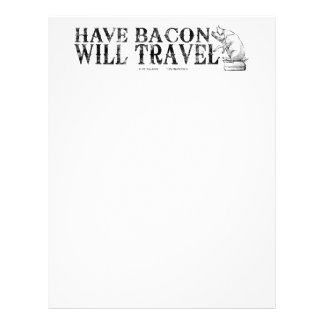 Grunge Style Have Bacon Will Travel Letterhead