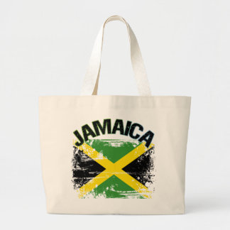 Grunge Style Jamaica Flag Design Canvas Bags