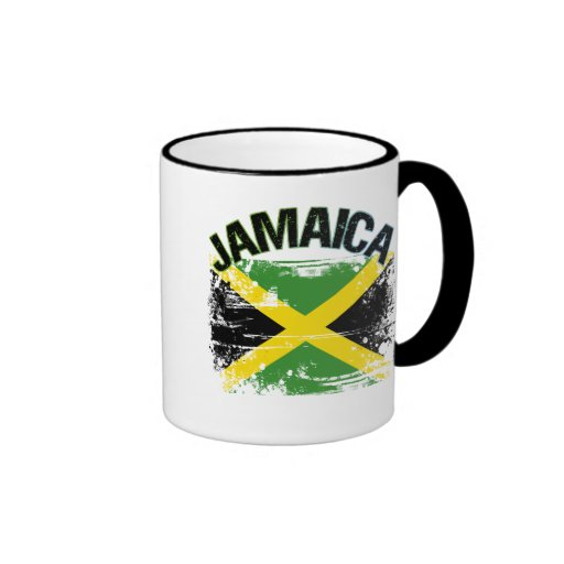 Grunge Style Jamaica Flag Design Coffee Mugs