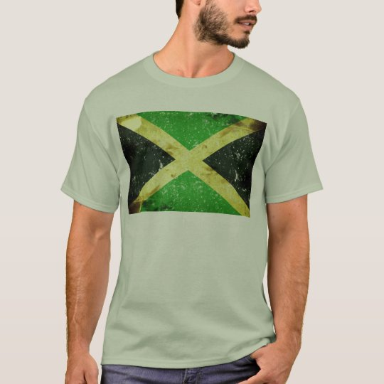 Grunge style Jamaican design T-Shirt