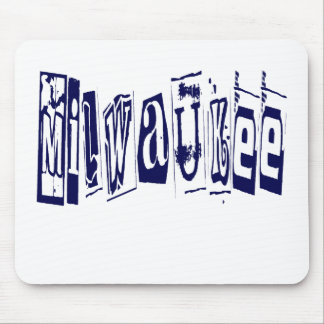 GRUNGE STYLE MILWAUKEE MOUSE PAD