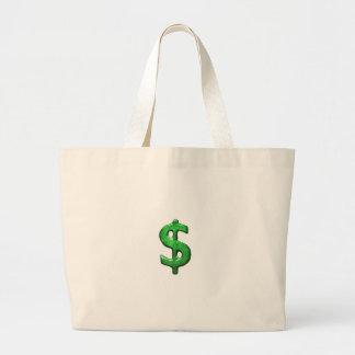 Grunge Style Money Sign Symbol Illustration Canvas Bags
