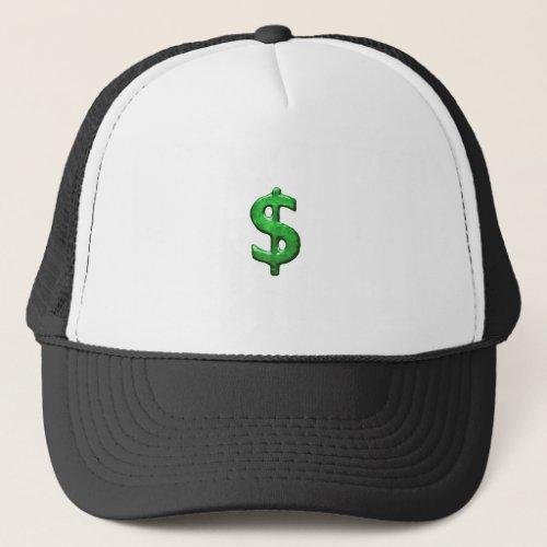 Grunge Style Money Sign Symbol Illustration Trucker Hat