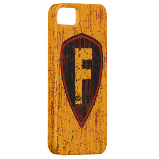 Grunge Style Monogram Letter F iPhone 5 Covers