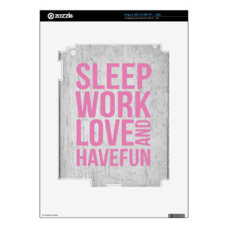 Grunge Style Motivational Quote Poster iPad 2 Skins