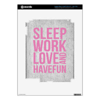 Grunge Style Motivational Quote Poster iPad 3 Decal