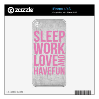 Grunge Style Motivational Quote Poster Skins For The iPhone 4
