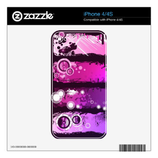 Grunge Style Music Banner 3 iPhone 4S Decal