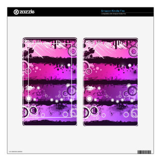 Grunge Style Music Banner 3 Skins For Kindle Fire