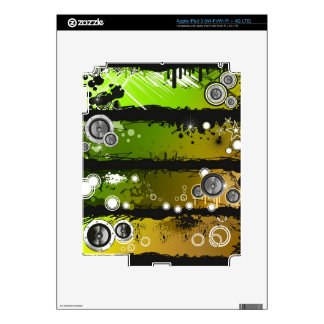 Grunge Style Music Banner Decal For iPad 3