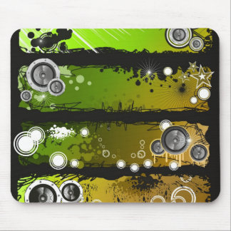 Grunge Style Music Banner Mouse Pad