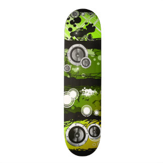 Grunge Style Music Banner Skate Deck