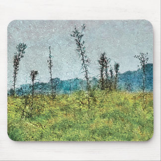 Grunge Style Nature Artwork Mouse Pad