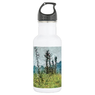 Grunge Style Nature Artwork Stainless Steel Water Bottle