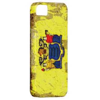 Grunge Style New Jersey Flag iPhone SE/5/5s Case