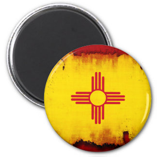 Grunge Style New Mexico Flag Magnet