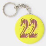 GRUNGE STYLE NUMBER 22 KEY CHAINS