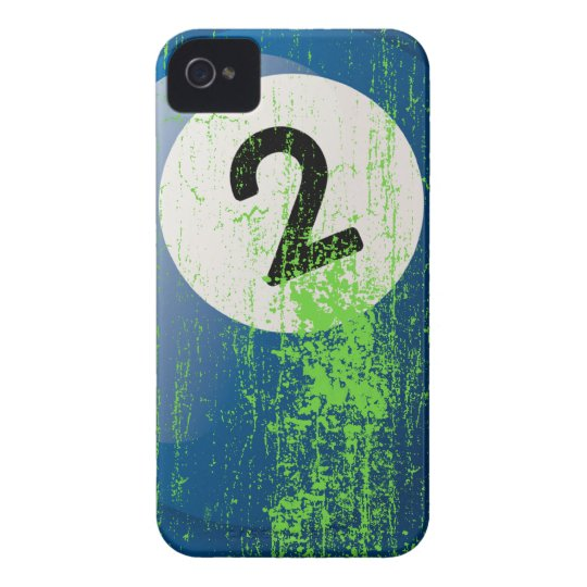 Grunge Style Number 2 Billiard Ball iPhone 4 Case