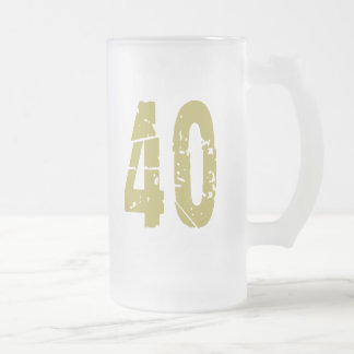 GRUNGE STYLE NUMBER 40 COFFEE MUGS