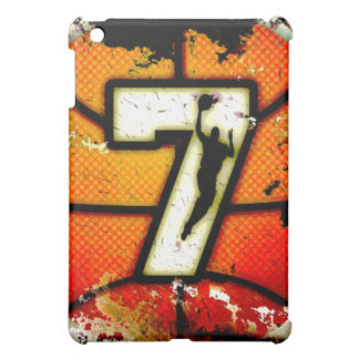 Grunge Style Number 7 Basketball and Player iPad Mini Case