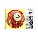 Grunge Style Number 7 Billiards Ball Stamps
