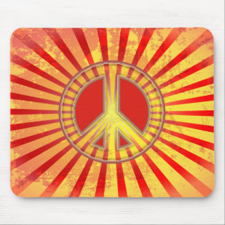 GRUNGE STYLE PEACE SIGN FANTASY MOUSE PAD