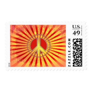 GRUNGE STYLE PEACE SIGN FANTASY STAMP