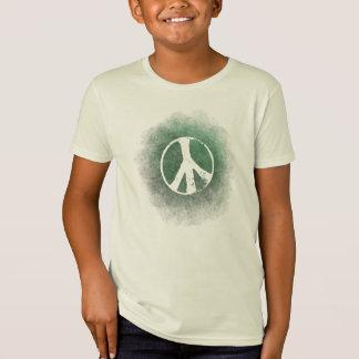 Grunge Style Peace Symbol Kids Organic T-Shirt