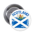 Grunge Style Scotland Design Button
