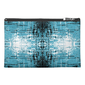 Grunge Style Teal Abstract. Travel Accessories Bags