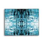 Grunge Style Teal Abstract. Envelopes