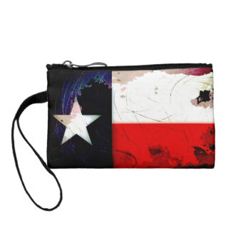 Grunge Style Texas Flag Coin Wallet