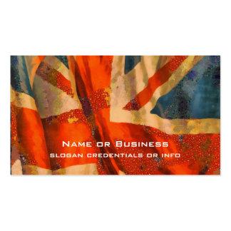 Grunge Style Union Jack British Flag Illustration Business Card