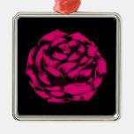 Grunge subió en rosas fuertes ornamentos para reyes magos