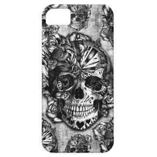 Grunge sugar skull pattern iPhone 5 case