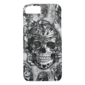 Grunge sugar skull pattern iPhone 8/7 case