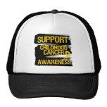 Grunge Support Childhood Cancer Awareness Trucker Hat