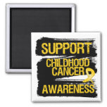 Grunge Support Childhood Cancer Awareness Magnet
