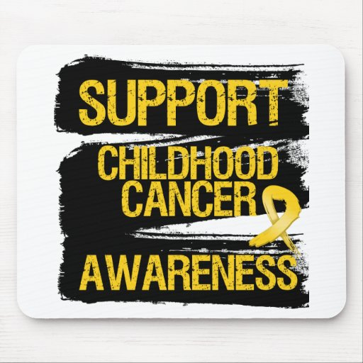 Grunge Support Childhood Cancer Awareness Mouse Pad