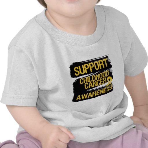 Grunge Support Childhood Cancer Awareness Tees