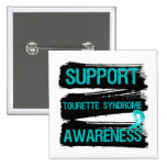Grunge - Support Tourette Syndrome Awareness Pinback Button