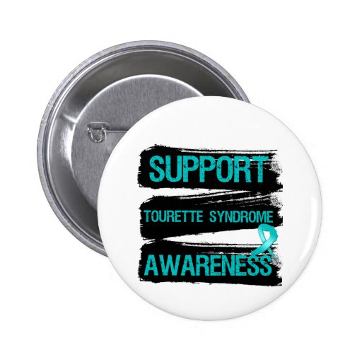 Grunge - Support Tourette Syndrome Awareness Button