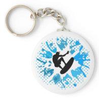 Grunge surfer keychain