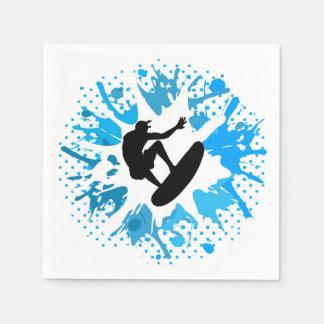 Grunge surfer napkin
