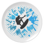 Grunge surfer party plate