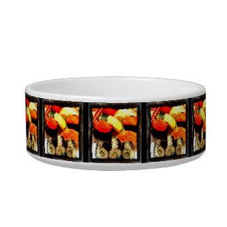 Grunge Sushi Combination Platter Cat or Dog Bowl