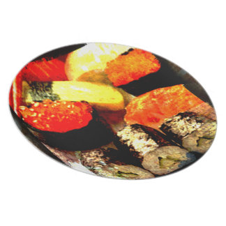 Grunge Sushi Combination Platter Plate