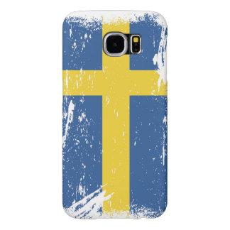 Grunge Sweden Flag Samsung Galaxy S6 Case